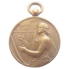 French Saint Cecelia Bronze Music Medal