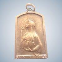 French Bronze St. Odile Medal - Lauth Bossert