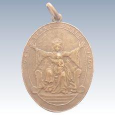 French 1918 Virgin and Child Bronze Medal - Aline Lauth-Bossert