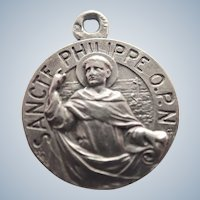 French Silver St Philip Medal - Karo