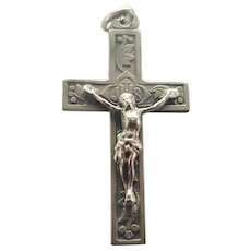 French Antique Silver Crucifix