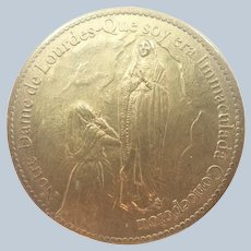 French Our Lady of Lourdes Bronze Medal