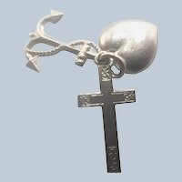 English Sterling Silver Faith Hope and Charity  Charms