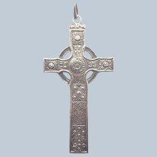 Scottish Sterling Silver Large Celtic Cross Pendant