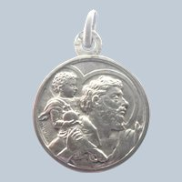 French St Christopher Silver Art Deco Medal - CHARL