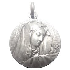 French Silver Our Lady of Sorrows Medal