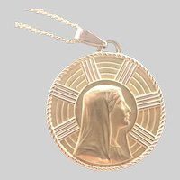 FIX Gold Filled Virgin Mary and Lourdes Medallion and Chain