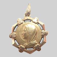 French FIX Gold Filled Antique Medal