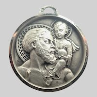 French Silver St Christopher Medal