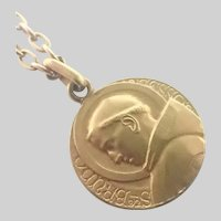 French St Bruno Gold Filled Medal and FIX Chain
