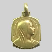 French Art Deco Gold Filled Medal - GRUN