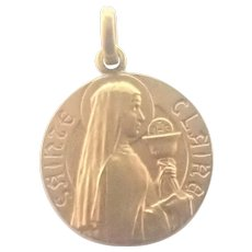 French Gold Filled Saint Claire <Medal
