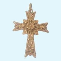 French Napoleon 111 'Pomponne' Large Embellished Pectoral Cross