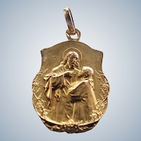 French Circa 1900 Gold Filled Communion Medal - CIGAR