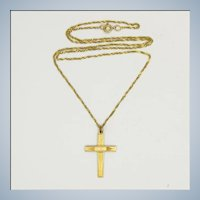 9 Carat Gold Cross and Chain Necklace