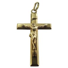 French Art Deco Gold Filled 'Fix' Crucifix