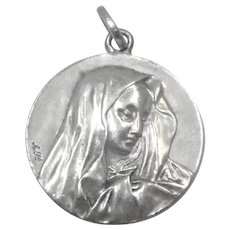 French Mary, Mother of Sorrows, Silver Medal
