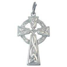 Sterling Silver Celtic Cross Pendant or Charm