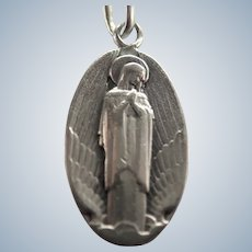 French Our Lady of Wings Silver Medal or Charm