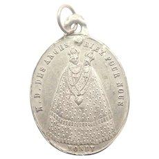 French Antique Silver Medal Bondy Pilgrimage