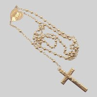 French Gold Filled 'FIX' Rosary with Mary Heart