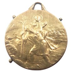 French St Christopher Gold Filled 'FIX' Medal - Tairac