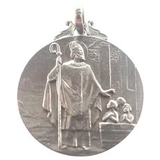 French 1907 Silver St. Nicholas Medal  - TRICARD