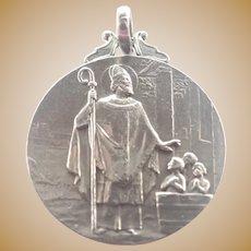 French 1907 Silver St. Nicholas Medal  - TRICARD