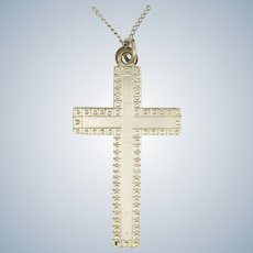 English Sterling Silver Cross and Chain