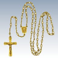 French Art  Deco Faux Pearl and Gold Filled Rosary