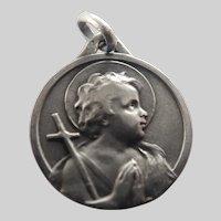 French Silver John the Baptist Medal