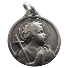 French Silver John the Baptist Medal