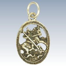 Antique St. George and Dragon 835 Silver Charm
