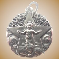 French Circa 1910 Silver Noel Jesus Medal - MELLERIO