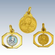 Three French Joan of Arc Medals or Charms