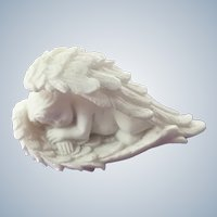 Porcelain Sleeping Cherub Small Figurine