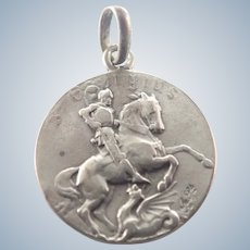 French Circa 1900 St George Silver Medal