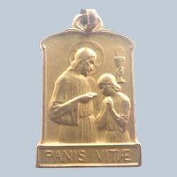 French Gold Filled 'FIX' Bread of L:ife Medal or Charm
