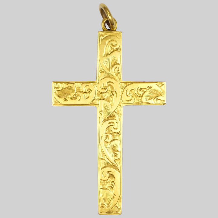 Gold Cross 9ct Yellow Gold Plain or Engraved