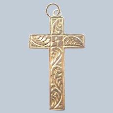 English Antique 9K Cross Pendant