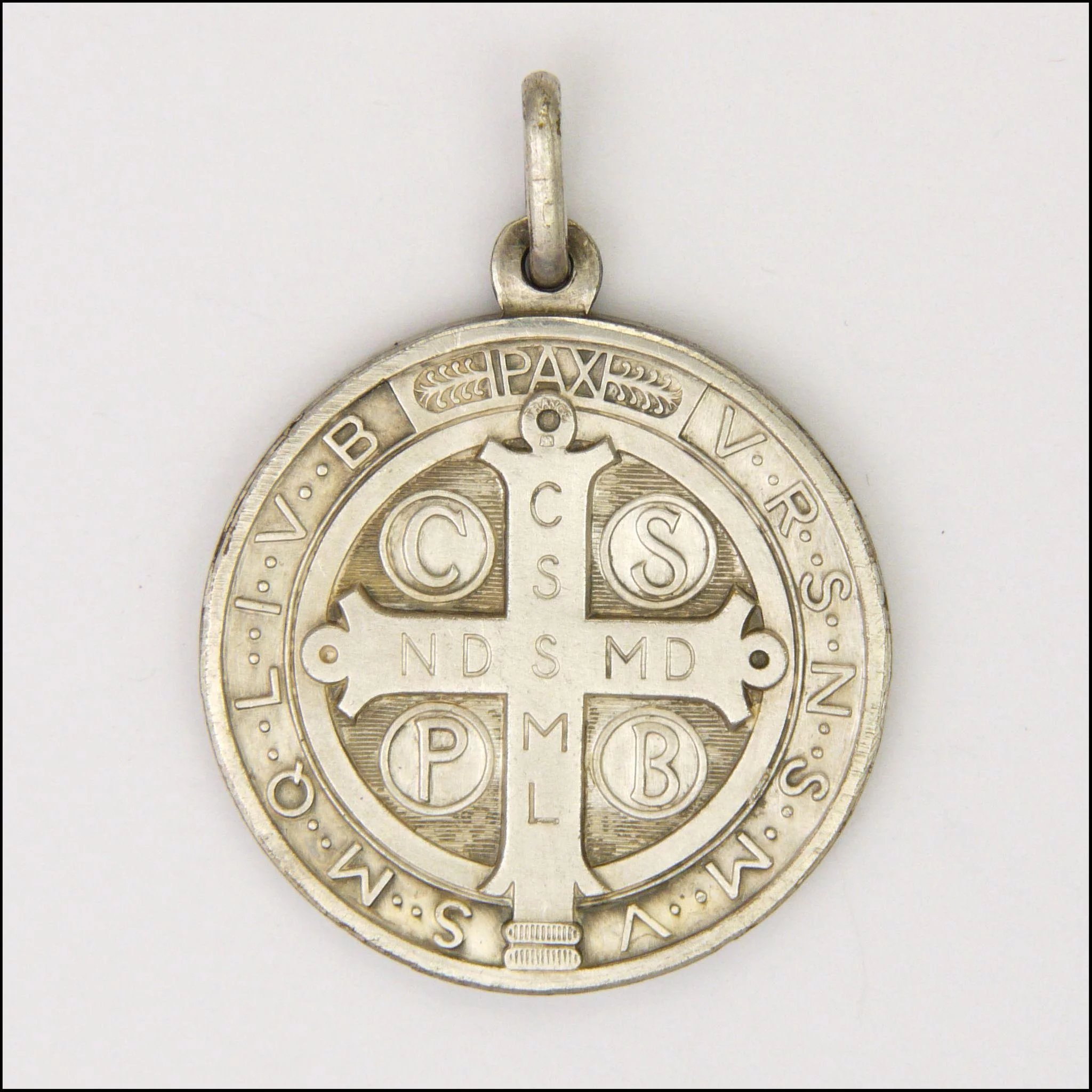 saint crux st religious benedict benedicti fullxfull medallion sp il golden necklace p s jewelry