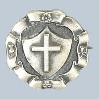 English Sterling Silver Holy Cross Pin - H.W. MILLER