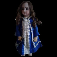 Vintage Blue Silk Doll Jacket Dress