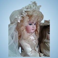 Antique Doll's Bridal Millinery Veil