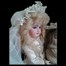 Antique Doll's Bridal Millinery Veil