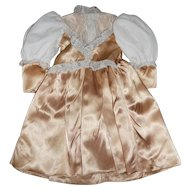 Antique Style Golden Doll Dress with Over Lace