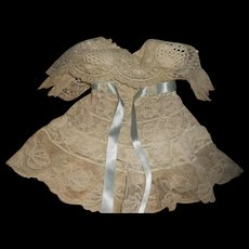 "Antique All Lace 10"" Doll Dress"