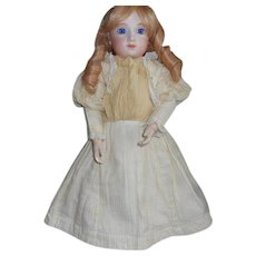 Antique Wool and Silk Cream Color Doll Dress