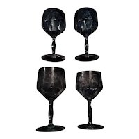 Cambridge Etched Crystal Wine Glasses