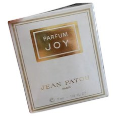 Vintage JOY Sealed 1/4 ounce French Parfum